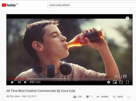 Coca Cola Creative Ad Youtube