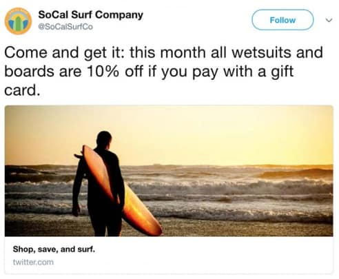 --Come-and-get-it--this-month-all-wetsuits-and-boards-are-10--off-if-you-pay-with-a-gift-card