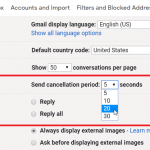 Cómo deshacer 'enviar ' en Gmail