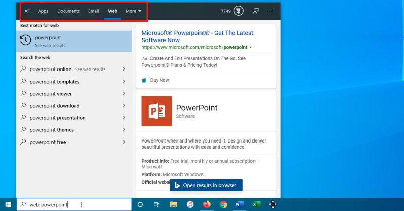 Cómo buscar en Windows 10