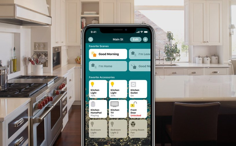 smart home feature mobile interface