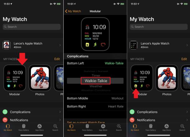 Cómo usar la aplicación de Walkie-Talkie en Apple Watch