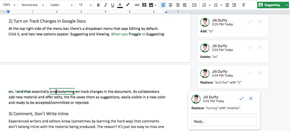 Cómo trabajar con el historial de revisiones en Google Docs