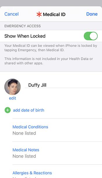 Cómo añadir información de emergencia a la pantalla de bloqueo del teléfono