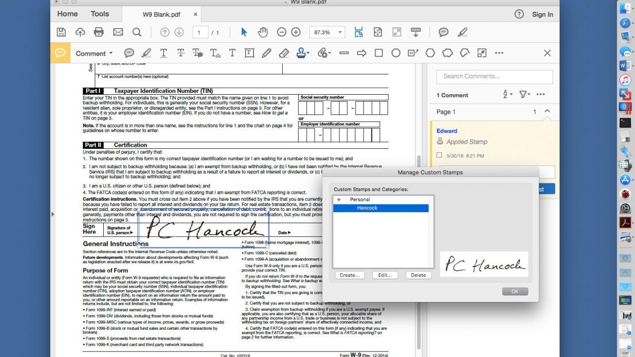 Cómo firmar un archivo PDF en la vista previa de MacOS