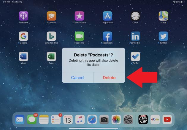Cómo eliminar (y restaurar) las aplicaciones iOS incorporadas