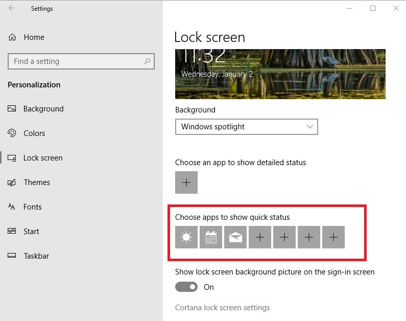 Personalizar la pantalla de bloqueo de Windows 10