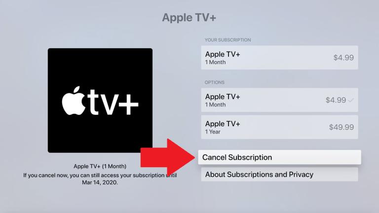Para cancelar tu suscripción al Apple TV+