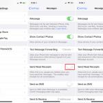 Cómo activar y desactivar la lectura de recibos en iMessage