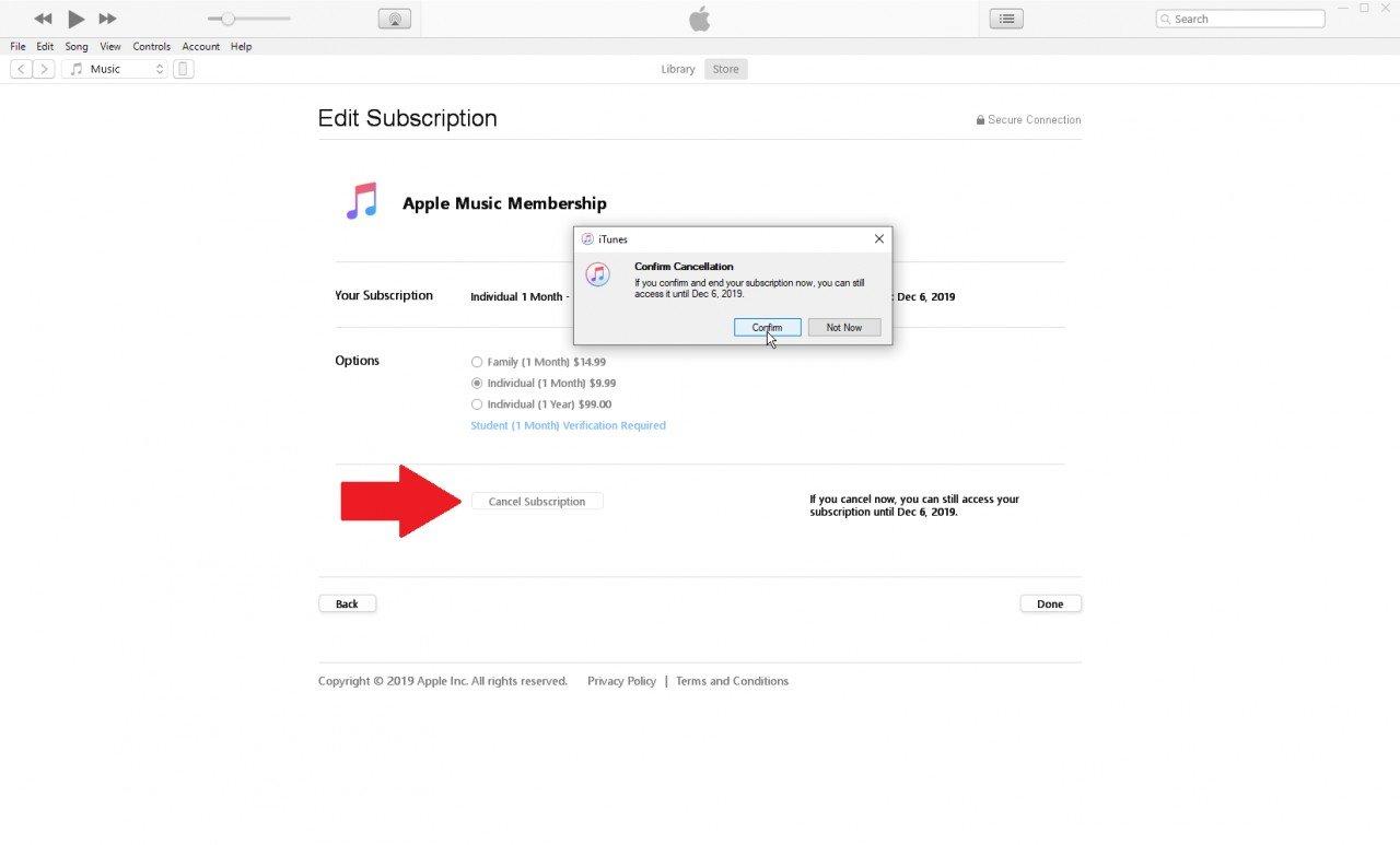 Como cancelar tu suscripción de música de Apple