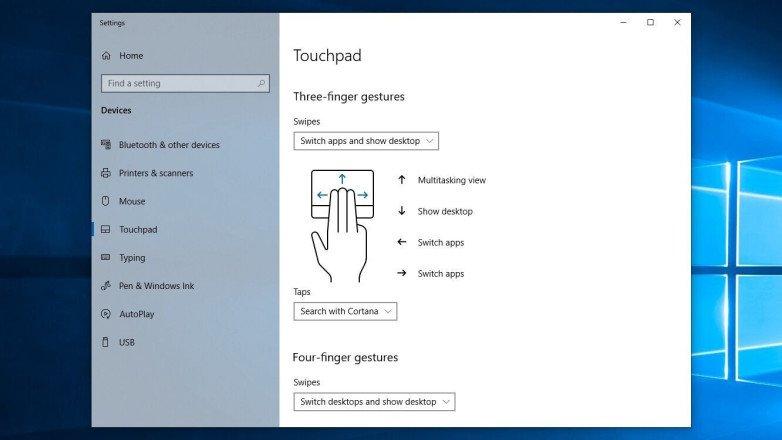 Cómo personalizar los gestos del panel táctil de tu portátil