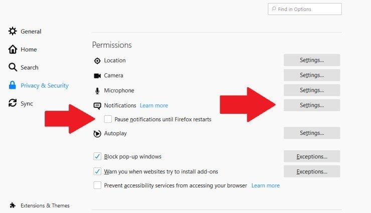 Cómo desactivar las notificaciones en la web
