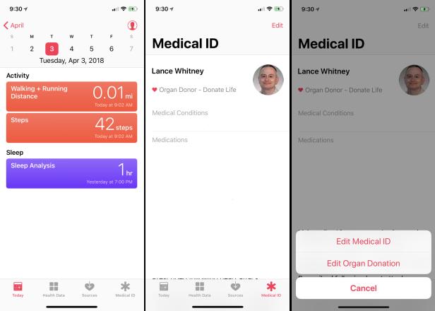 Cómo registrarse como donante de órganos en su iPhone
