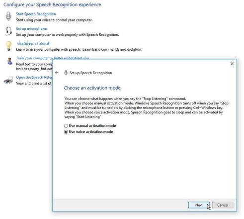 Usar el reconocimiento de voz y dictar el texto en Windows 10