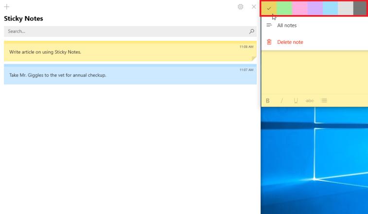 Cómo sincronizar y guardar tus notas adhesivas en Windows 10