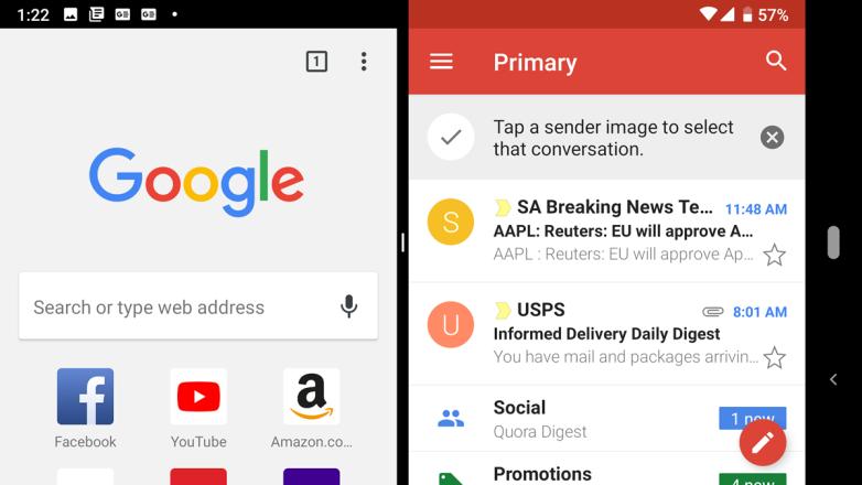 Cómo navegar a través del pastel de Android con gestos