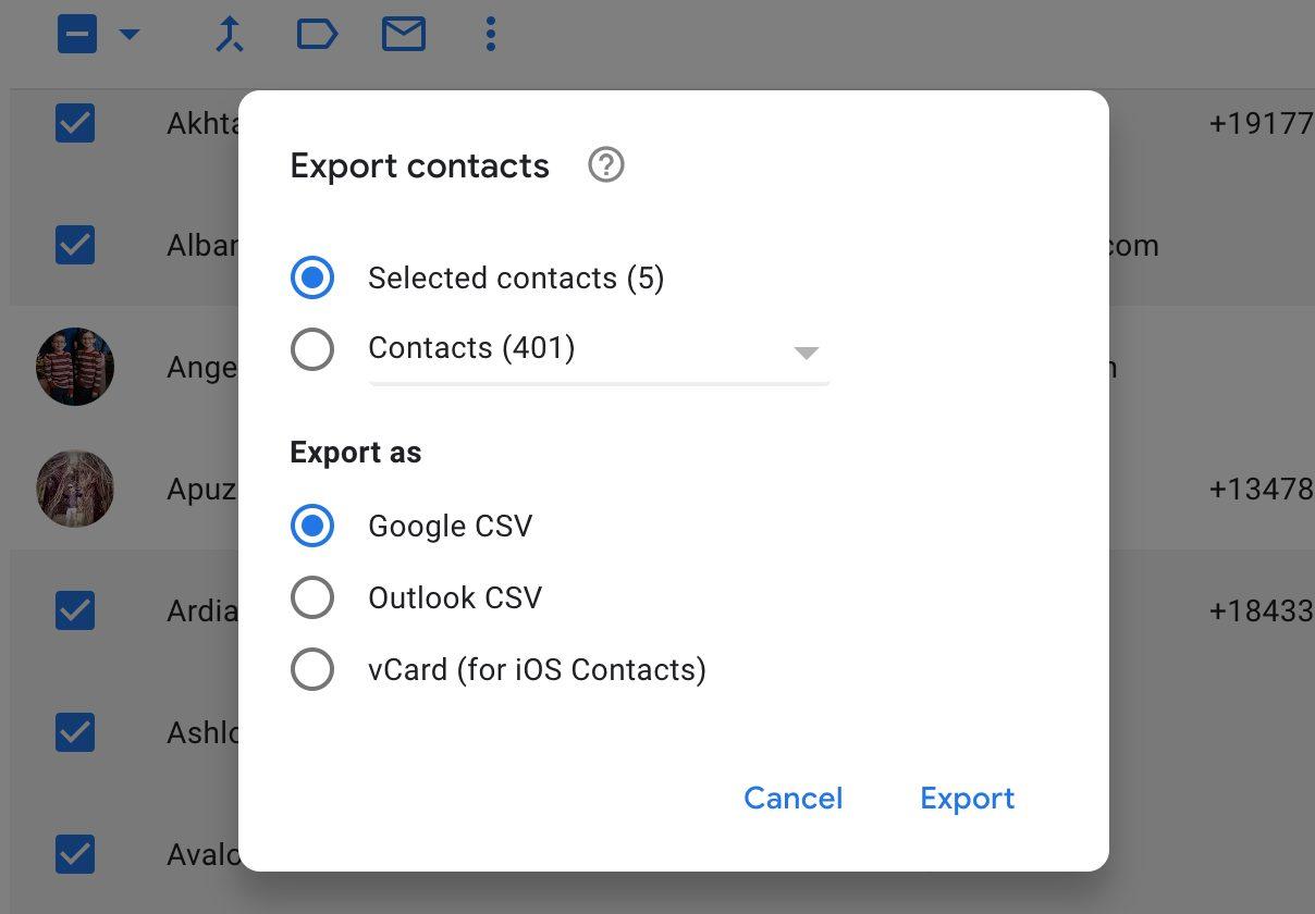 Cómo copiar tus contactos de una aplicación a otra