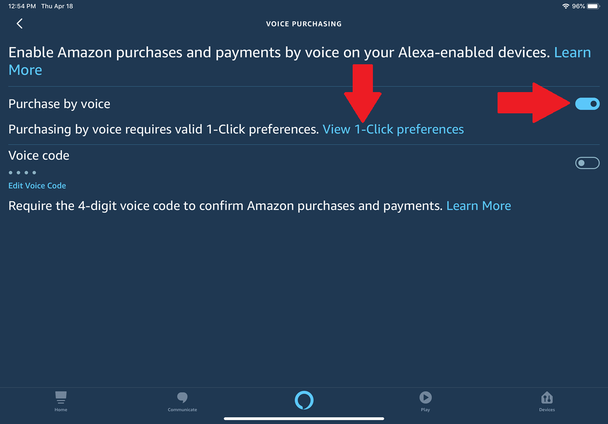 Enable Voice Ordering
