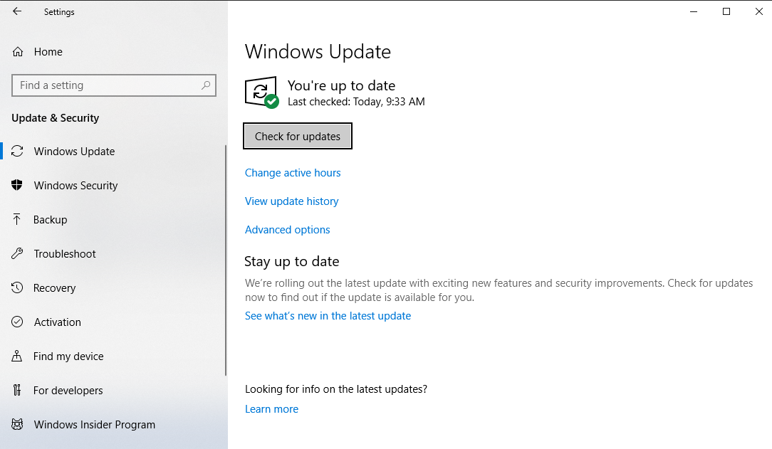 Update Drivers With Windows Update