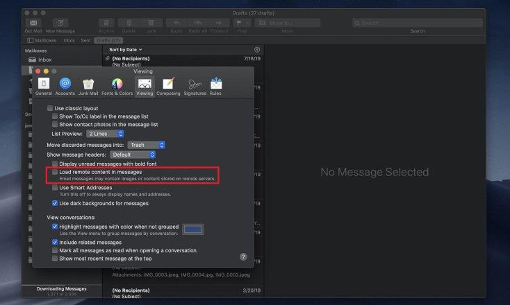 Cómo deshabilitar la carga de imágenes de correo electrónico
