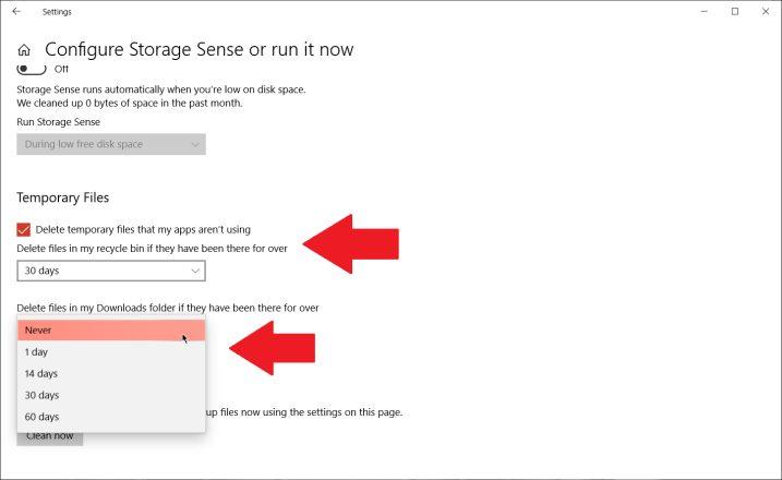 Cómo liberar espacio en el disco duro en Windows 10