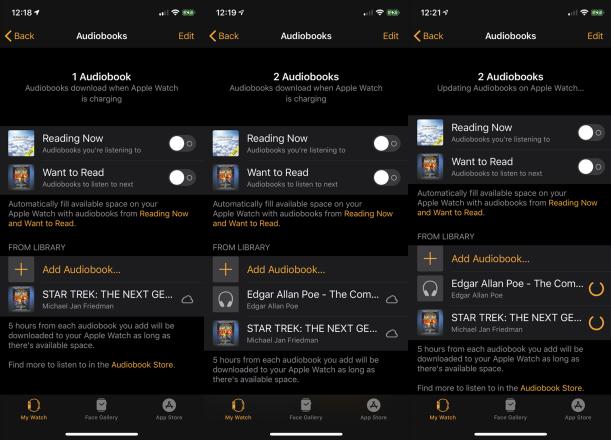 Cómo escuchar audiolibros en un reloj de Apple con WatchOS 6