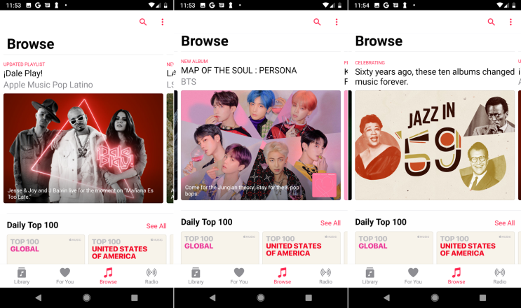 Cómo usar la música de Apple en un teléfono o tableta Android