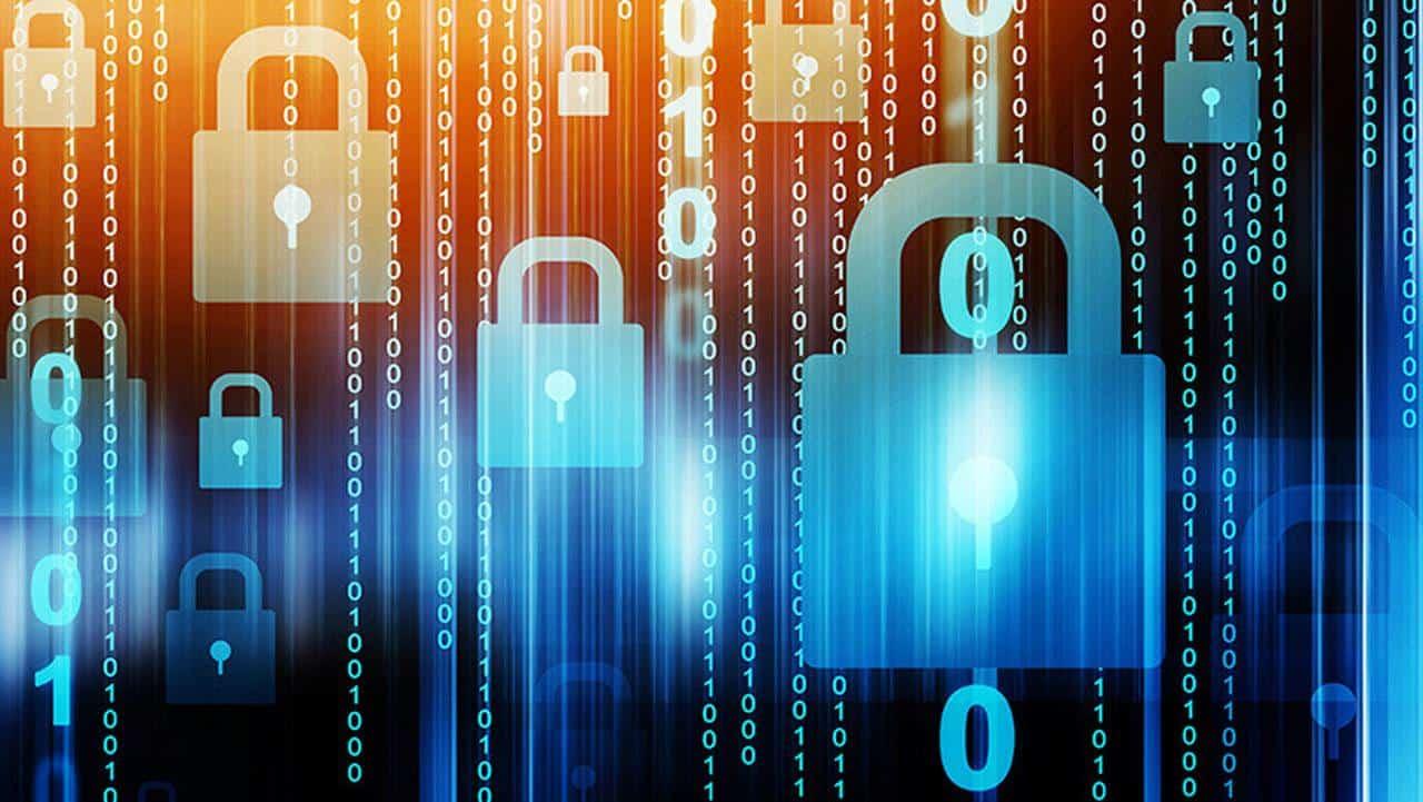Gráficos de seguridad digital.