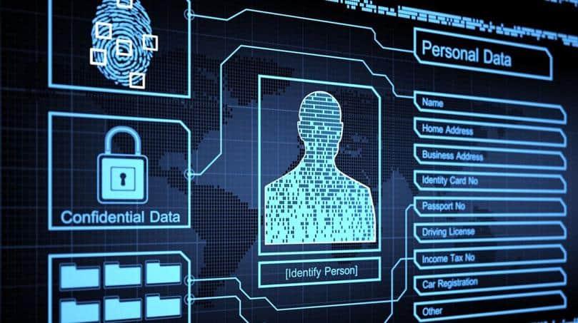Captura de pantalla para datos de identidad digital