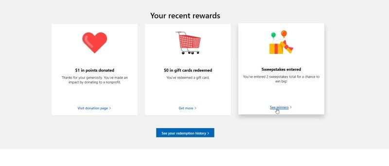 Cómo obtener material gratuito a través del programa de recompensas de Microsoft