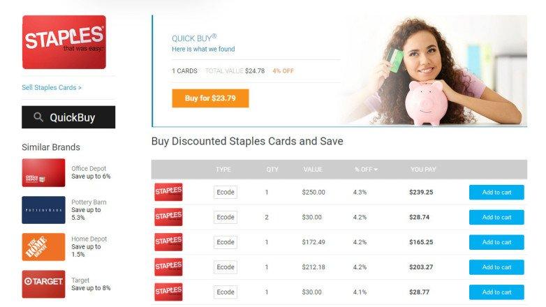 Cómo comprar, vender e intercambiar tarjetas de regalo