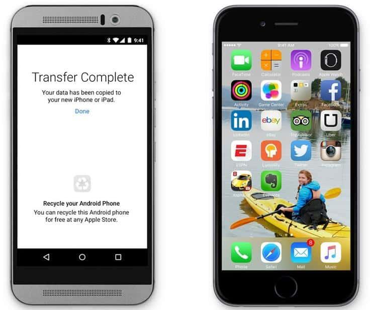 Cómo pasar de un teléfono Android al iPhone