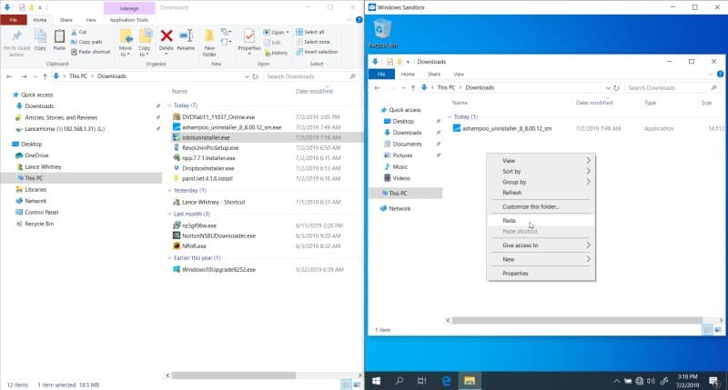 Ejecuta el software de forma segura con Windows 10 Sandbox