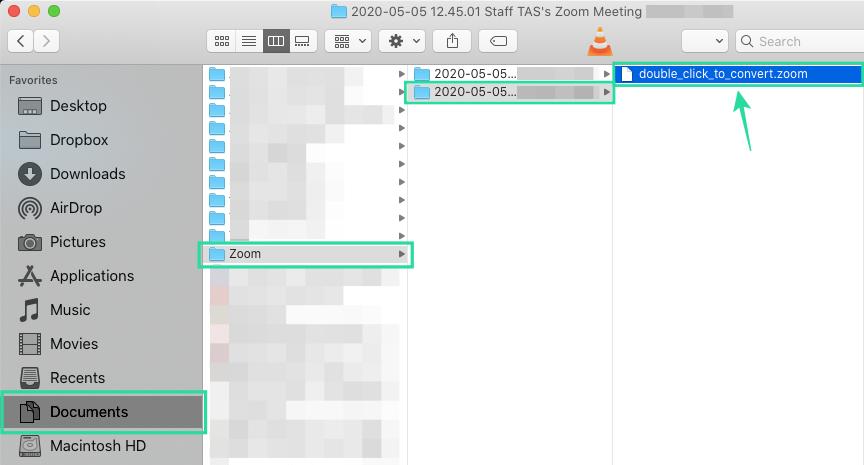 Cómo convertir manualmente las grabaciones locales fallidas de Zoom en un Mac