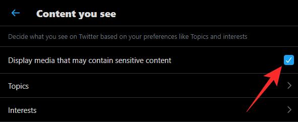 Cómo ver contenido sensible en Twitter