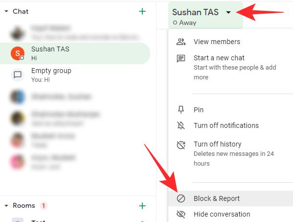 Cómo bloquear a alguien en el chat de Google y Hangouts en el teléfono o el PC