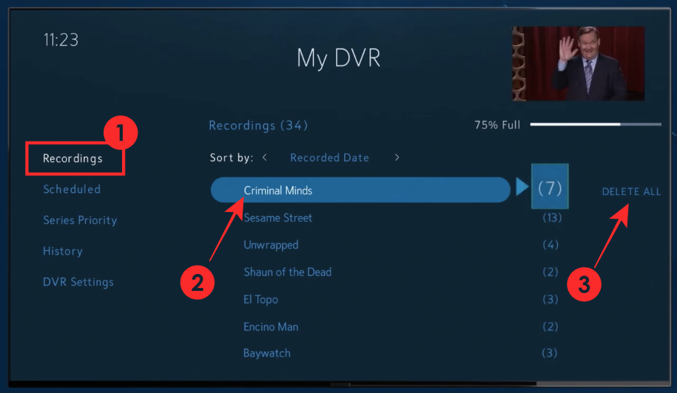 Cómo grabar en Spectrum TV App y Box