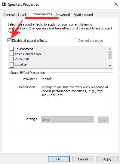 Cómo bajar los graves en Windows 10