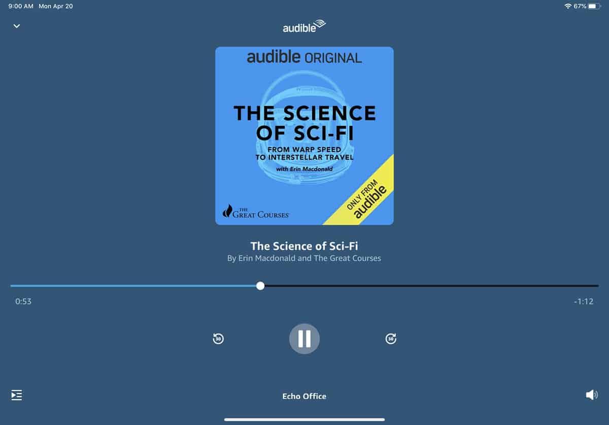 Cómo escuchar audiolibros en un dispositivo Amazon Echo