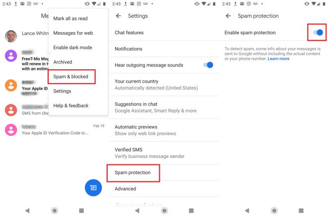 Cómo bloquear los textos de los robots y los mensajes de spam