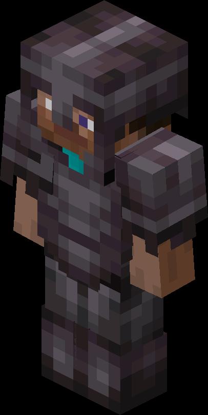 Minecraft Steve con armadura de Netherite
