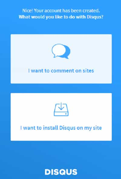 Get Started using disqus