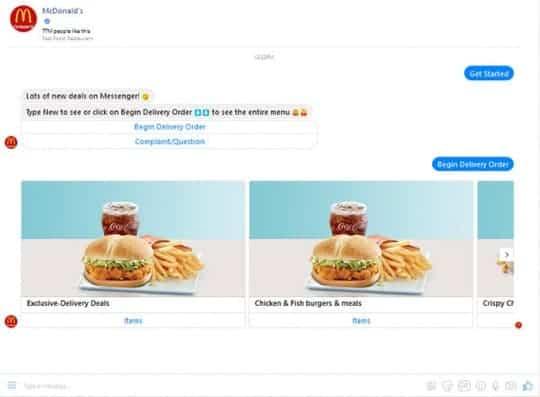 McDonald`s-chatbots