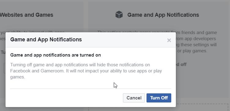 game notificacion facebook