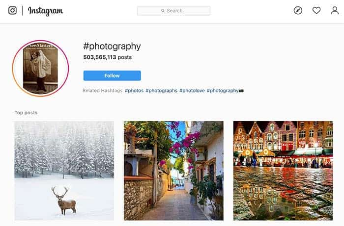 Photography Instagram Top Hashtag
